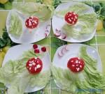 przepisy na potrawy dla dzieci - smaczne muchomorki - śniadanko dla czteroosobowej rodziny
