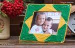Ramka do zdjęcia, zdobiona wełną, zrobiona przez dzieci - ukończona