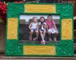 Ramka do zdjęcia - wełniana, zrobiona przez dziecko