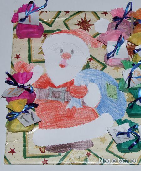 Kalendarz adwentowy zrobiony przez dziecko