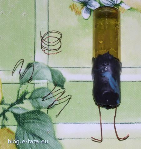 Nurek Kartezjusza z buteleczki po lekarstwach