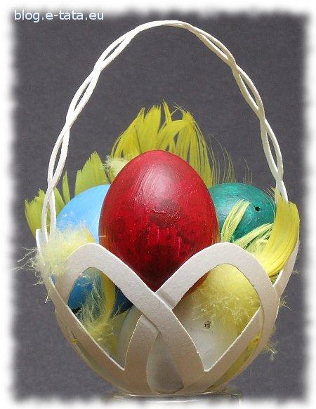 Ażurowe jajko gęsie - koszyczek