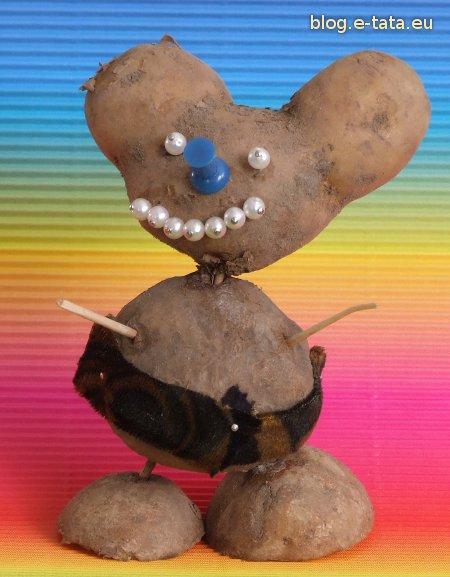 Myszka Miki z kartofla