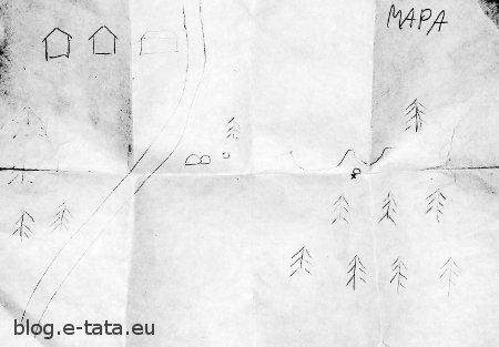 Poszukiwanie skarbów, mapa