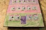 Kalendarz adwentowy, zrobiony samemu przez dzieci - przód